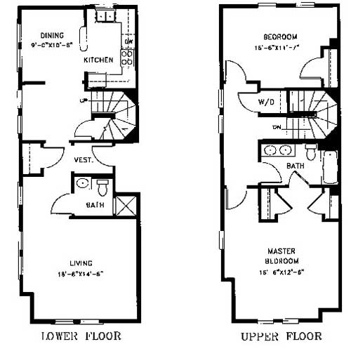 This Two Bedroom Bath Townhome Has 1544 Square Feet Of Living Space The Main Floor Open Room A Guest Bathroom Coat Closet Off